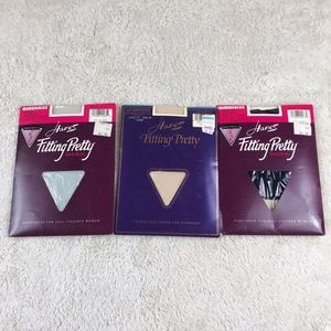 Hanes Fitting Pretty Pantyhose 2X Queen Set of 3
